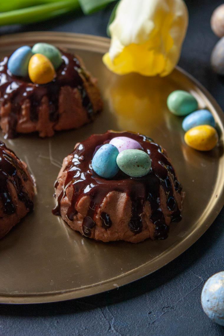 Babeczki czekoladowe owsiano-ryżowe.