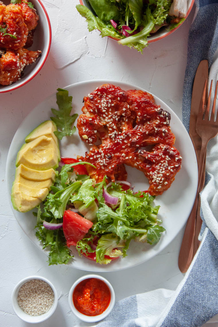 Stek z kalafiora w sosie bbq