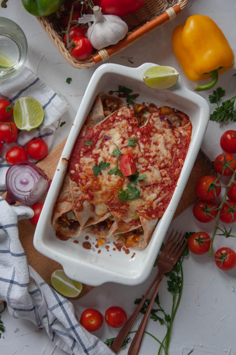 Zapiekane burrito