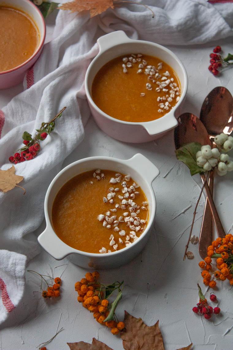 Zupa z dynią i kasza jaglaną