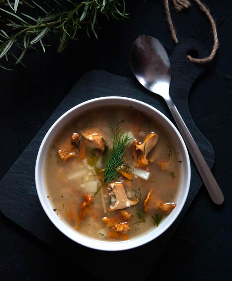 Zupa kurkowa z kasza jaglaną